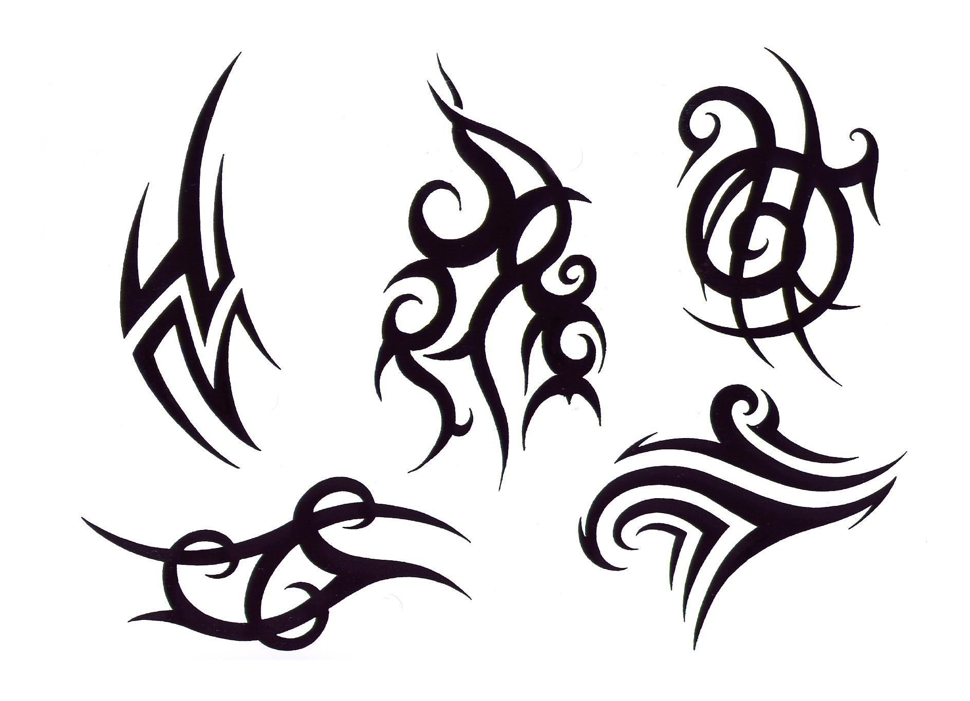 Tribal Tattoo Line Drawing : Tribal lines tattoo clipart best