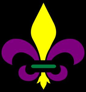 Fleur De Lis Mardi Gra clip art - vector clip art online, royalty ...