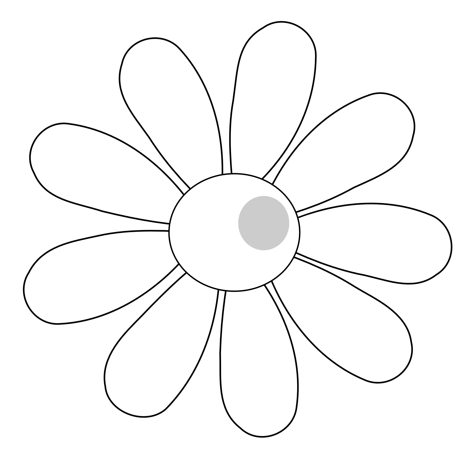 Line Art Flowers Vector : Black and white flower vector clipart best