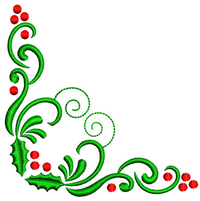 christmas corner borders clipart best