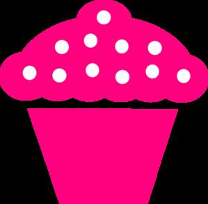 Polka Dot Cupcake Black clip art - vector clip art online, royalty ...