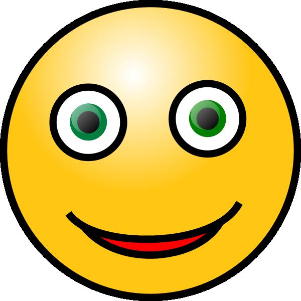 Green Eye Smile clip art - vector clip art online, royalty free ...