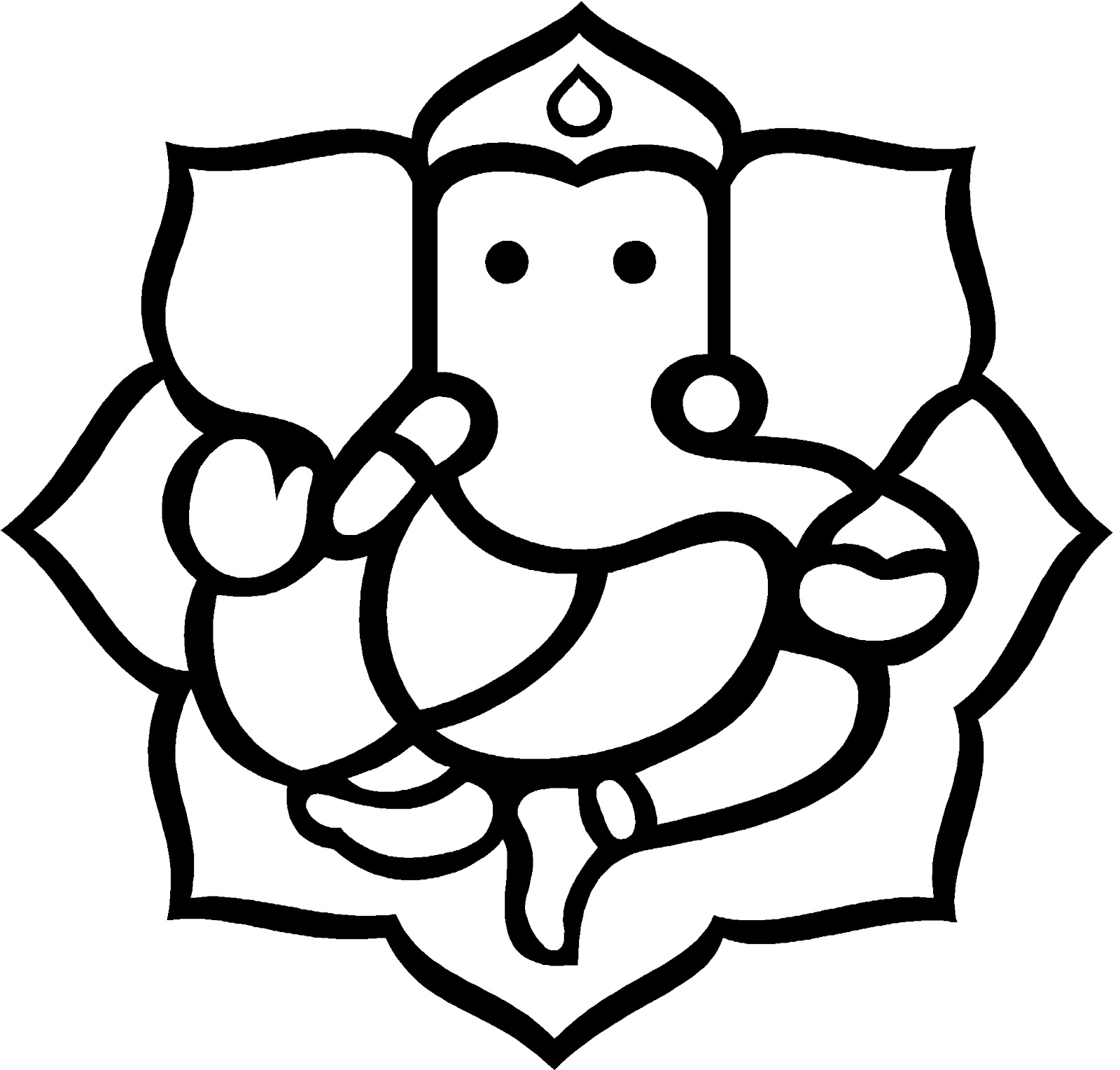 Ganesh Line Drawing : Ganesh vector clipart best
