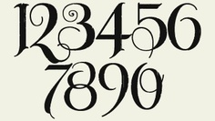 Numbers in old englash clipart best for Classic house number fonts