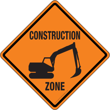 Challenger image within free printable construction signs