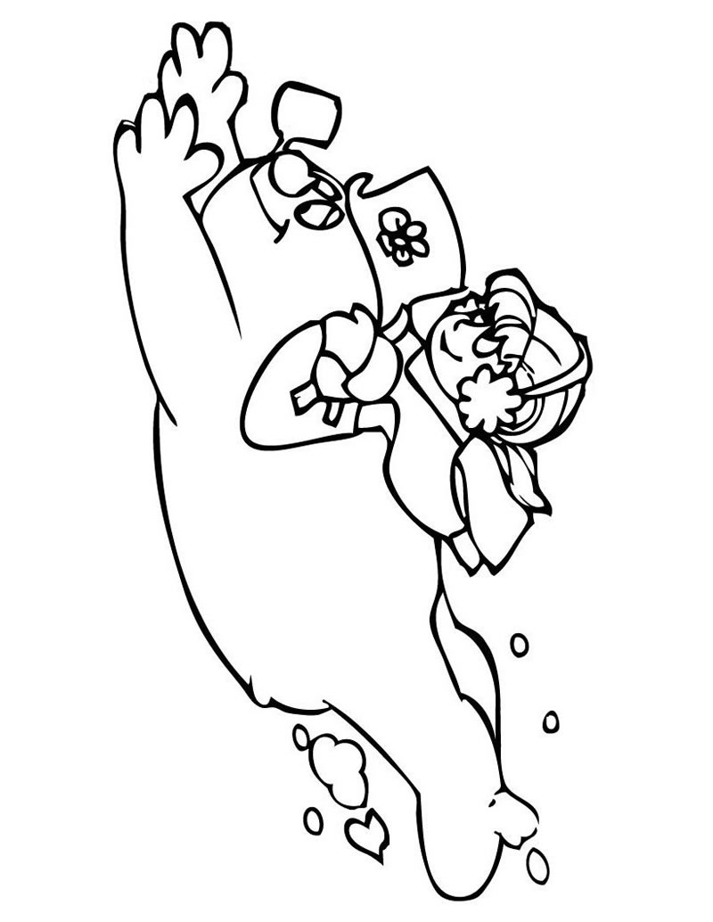 Free Ghter Pin Up Girl Coloring Pages