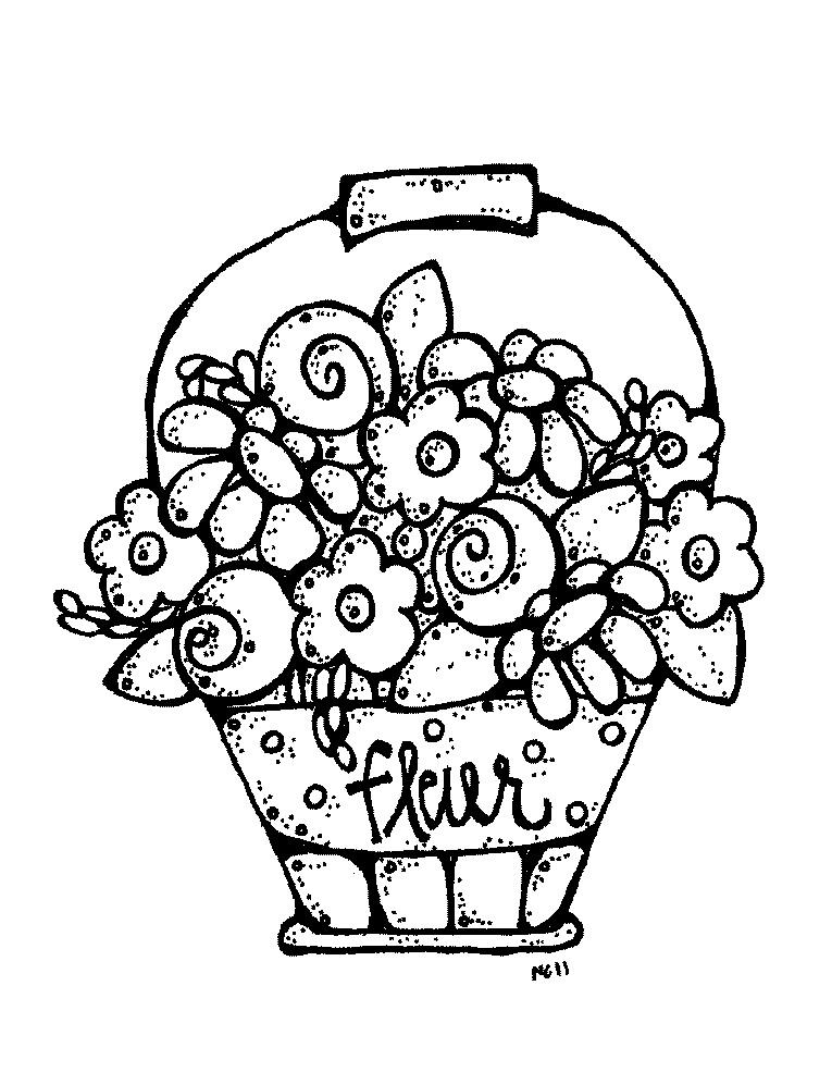 MelonHeadz pail of flowers ClipArt