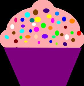 Cupcake Pink clip art - vector clip art online, royalty free ...