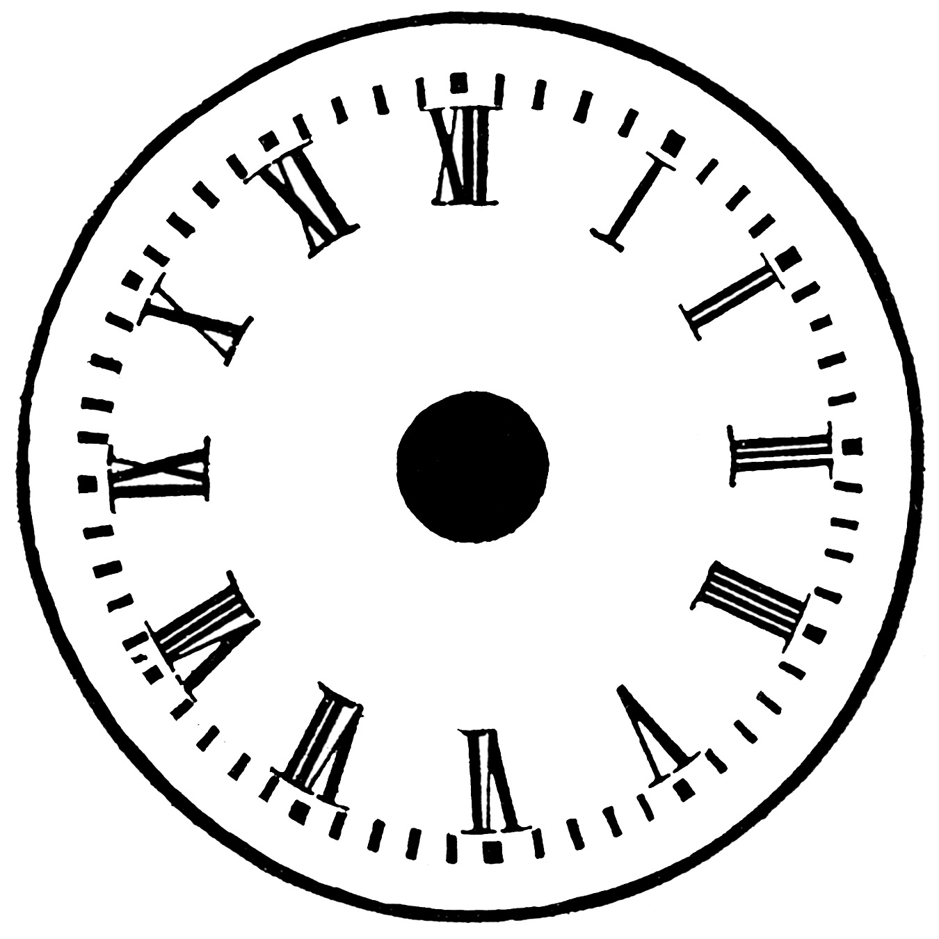 Clock Without Hand - ClipArt Best
