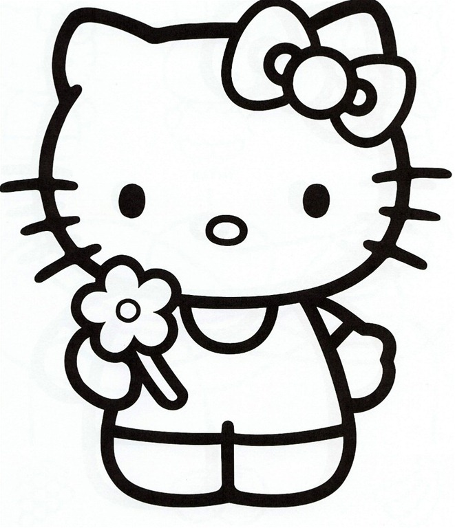 Hello kitty template clipart best for Hello kitty cut out template