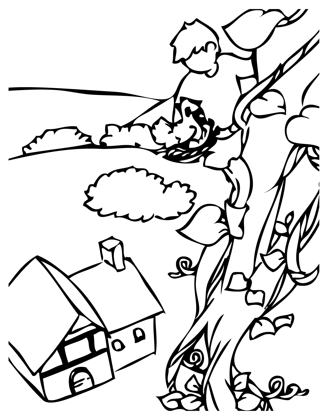 Jack And The Beanstalk Coloring Sheets