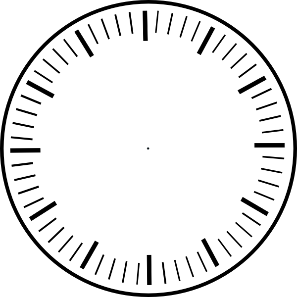 Clock Face, Hour And Minute Marks, No Hands clip art - vector clip ...