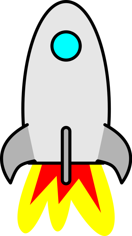 Free rocket ship clipart