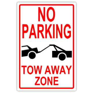 No parking 101 tow away parking sign templates for No parking signs template