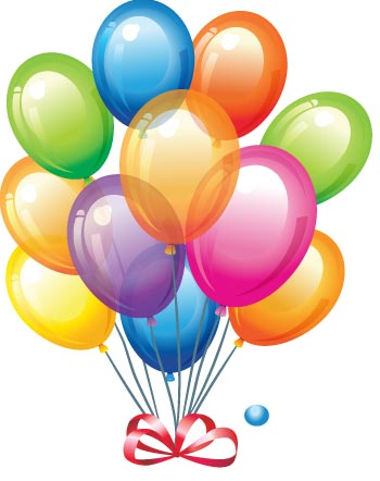 Happy Birthday Balloons And Cake - ClipArt Best