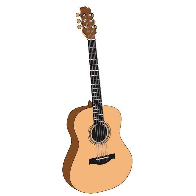 acoustic guitar clipart clipart best. Black Bedroom Furniture Sets. Home Design Ideas