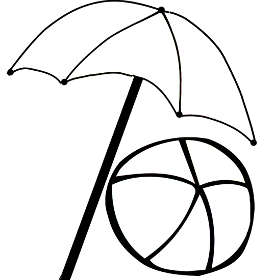 beach umbrella coloring pages clipart best