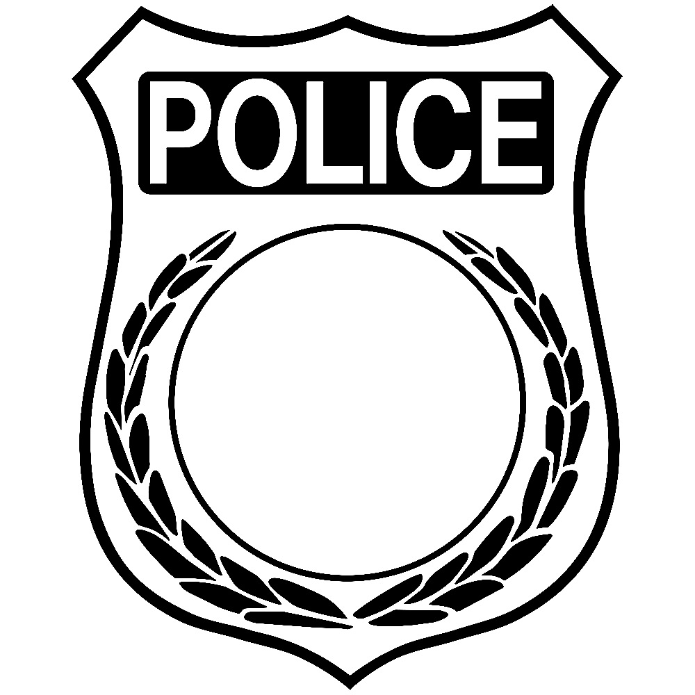 Badge template clipart best for Police patch design template