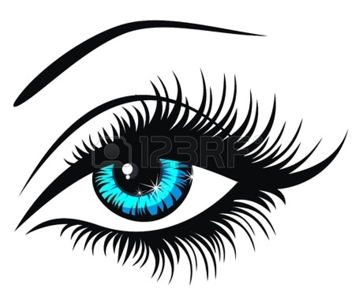 Eyes Blue Drawing Blue Eye Drawing | Clipart