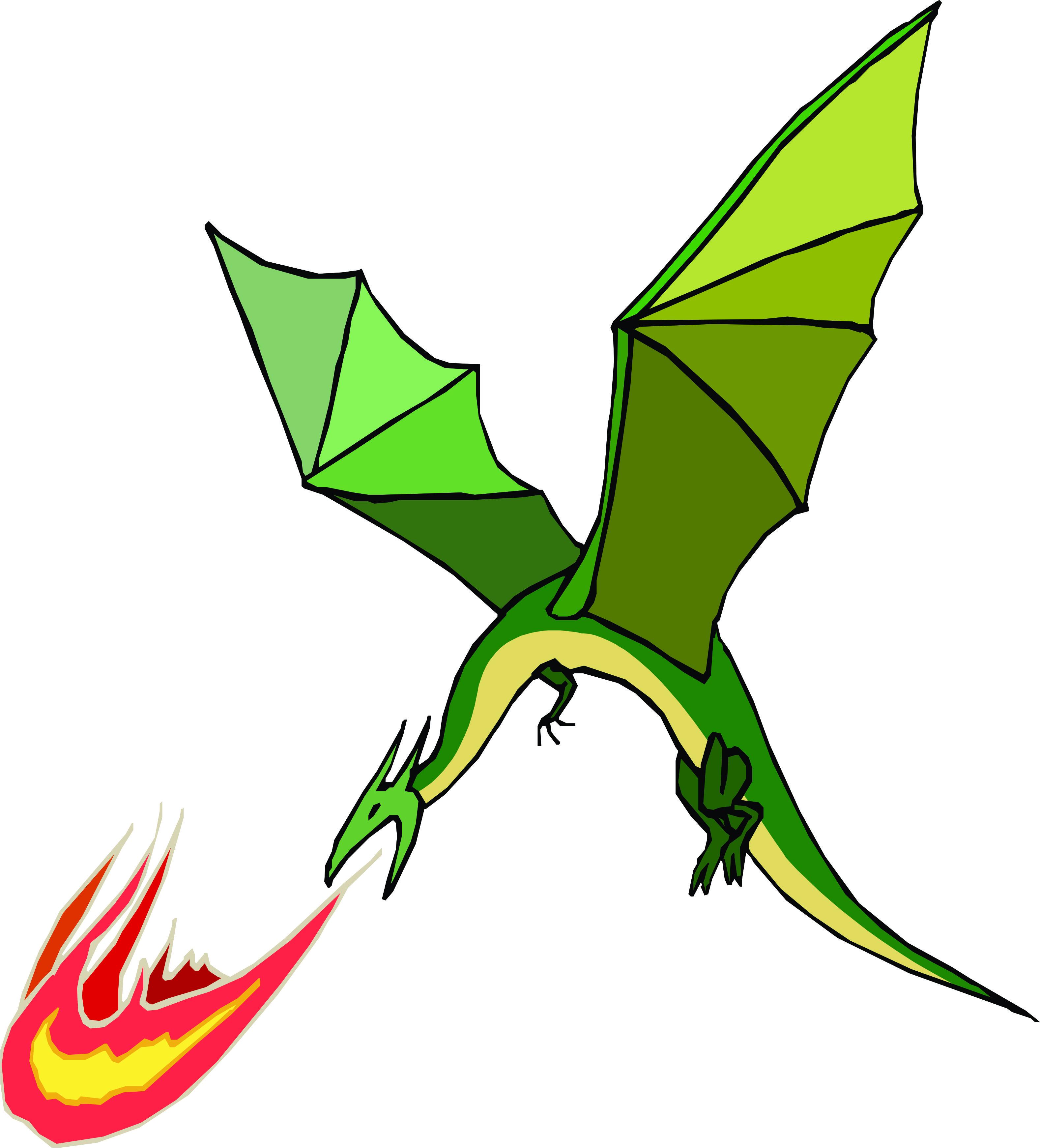 Fire Breathing Dragon - ClipArt Best
