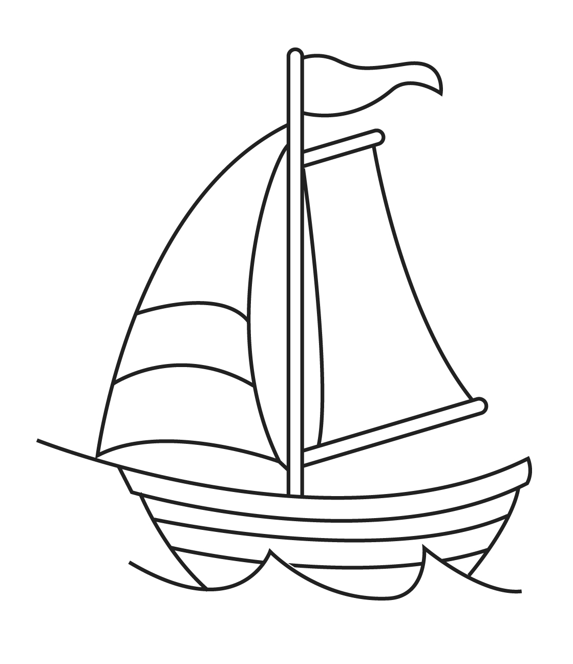 Line Art Boat : Sailboat line drawing clipart best