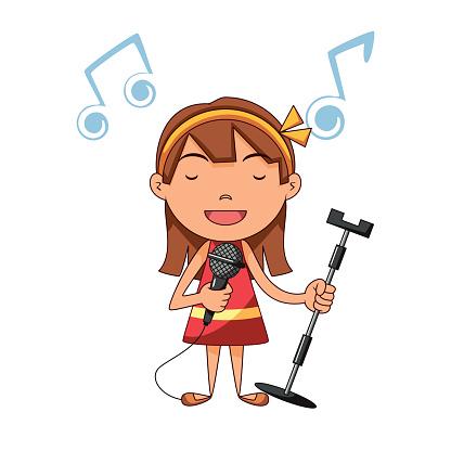Girl Singing - ClipArt Best