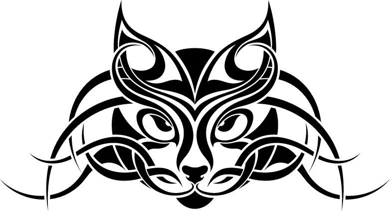 cat tribal tattoo animal pictures free designs free download clipart best clipart best. Black Bedroom Furniture Sets. Home Design Ideas