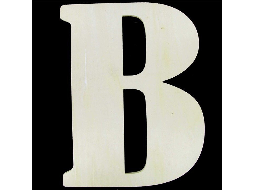 "18"" Baltic Birch Unpainted Wooden Letter Decor - B 