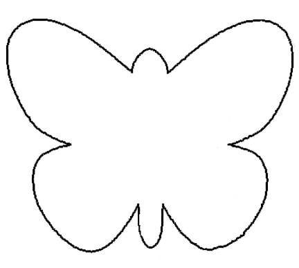 butterfly template free butterfly outline printable clipart best