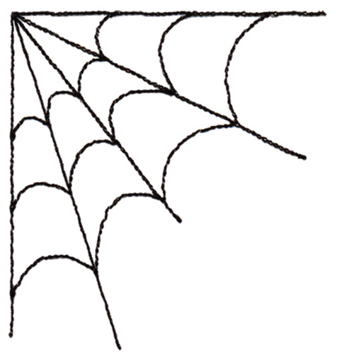 Spider in web drawing - photo#26