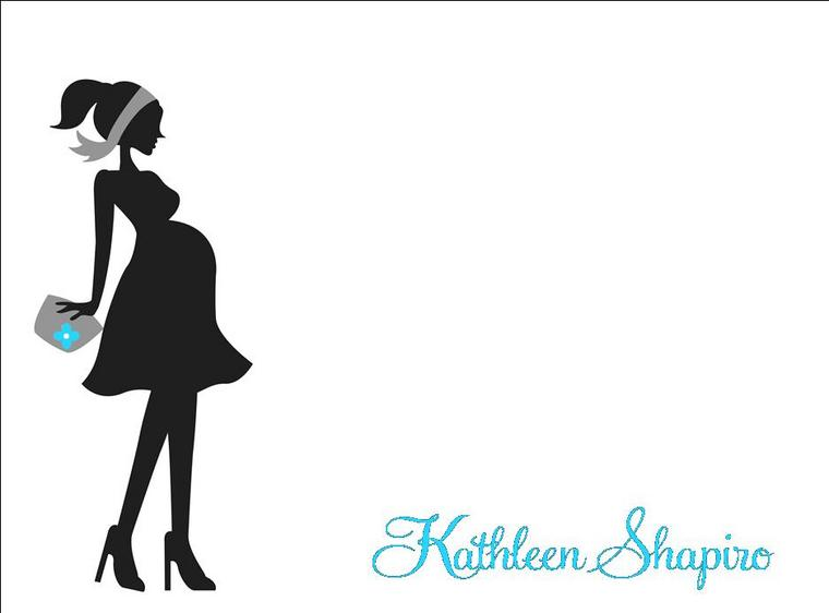 Pregnant woman clipart silhouette