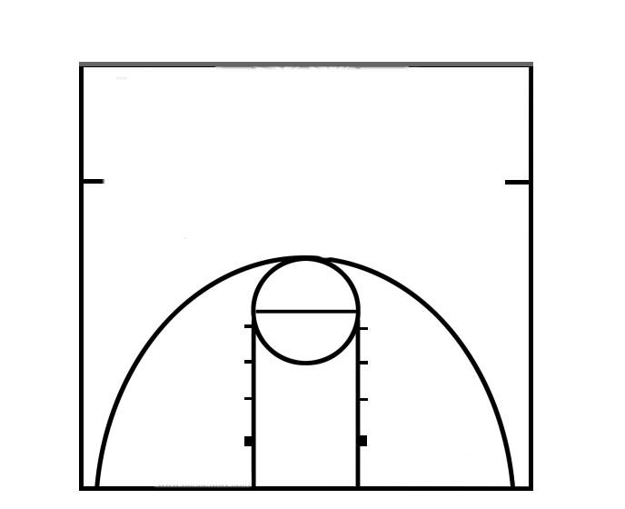 Basketball Diagrams For Word & Best Photos Of Basketball Court ...