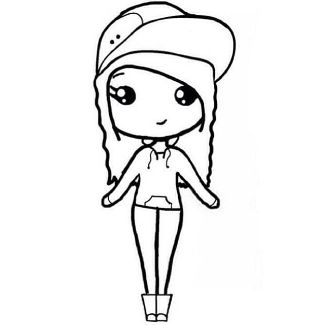 how to draw a simple cartoon birthday girl