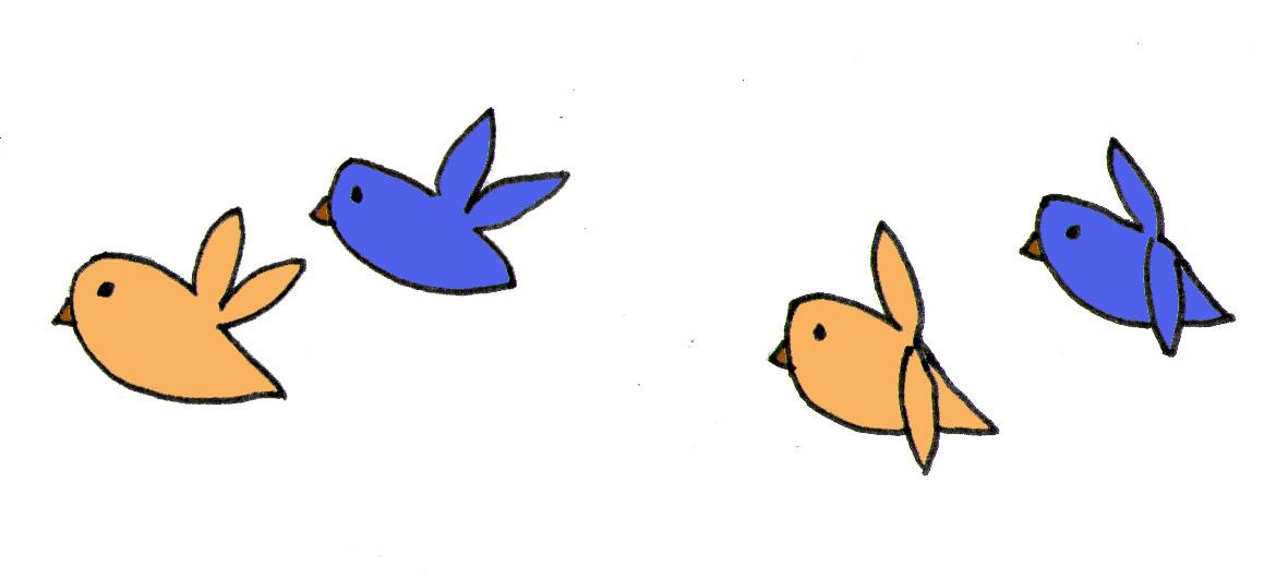 Animated blue bird