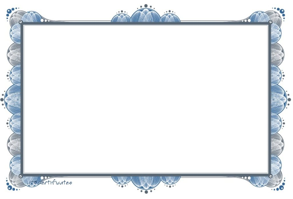 Blank Certificate Template Clipart Best