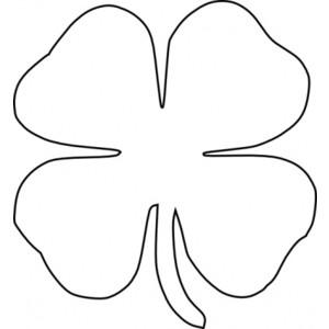 four leaf clover outline clipart best