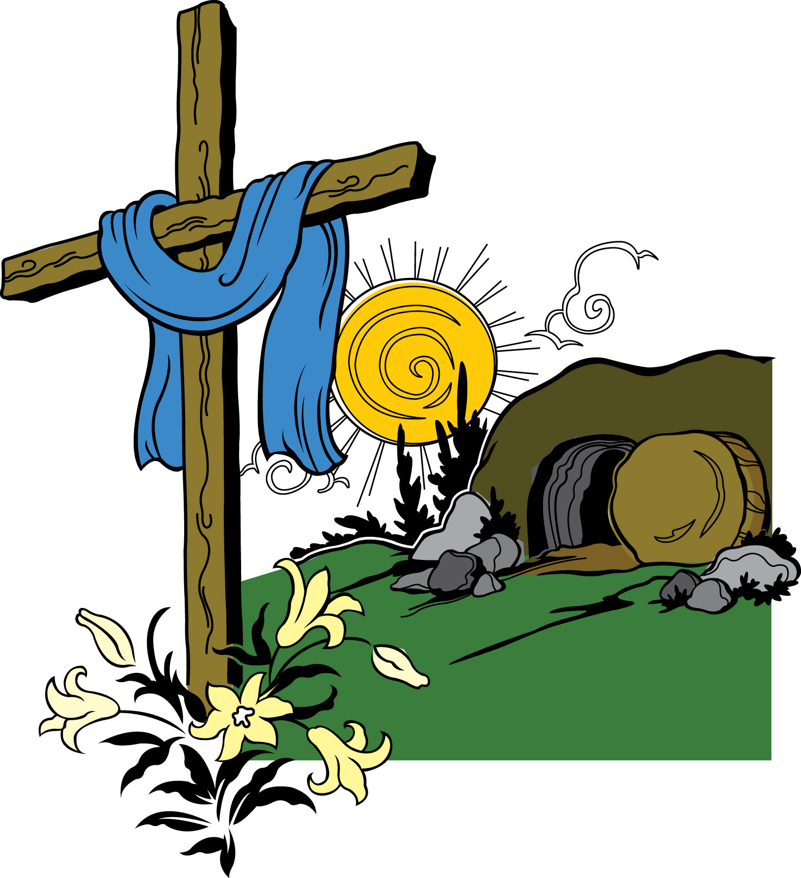 clip art jesus and the tomb - photo #9