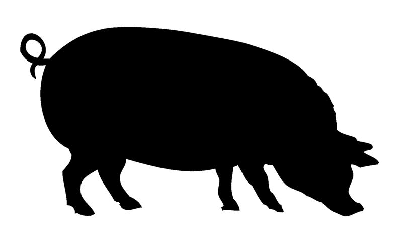 silhouette of a pig clipart best
