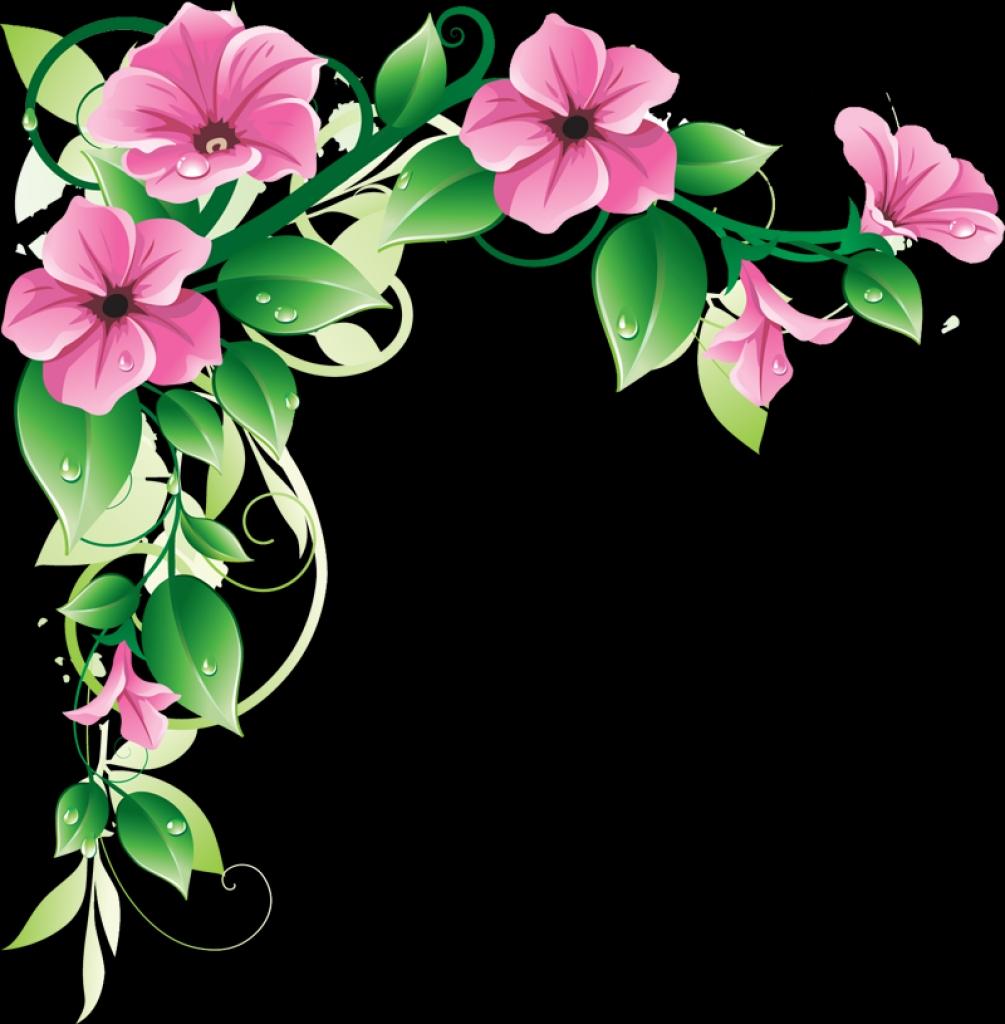 Pink Flower Borders - ClipArt Best