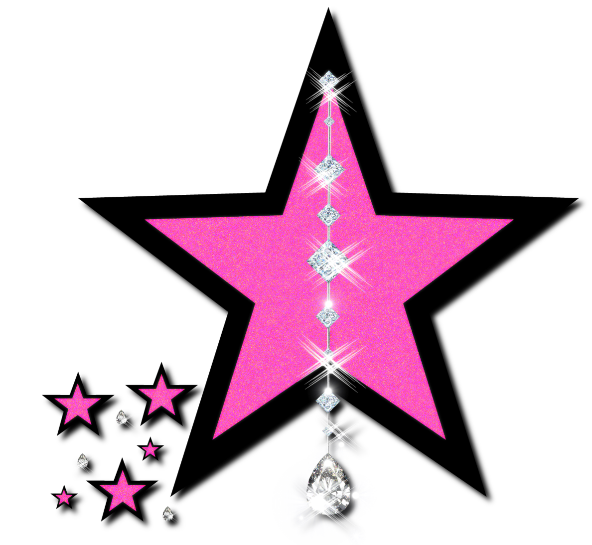 Pink Stars Clipart - Free to use Clip Art Resource