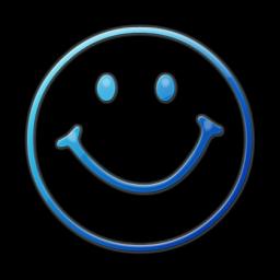 Blue Happy Face Png Clipart Best