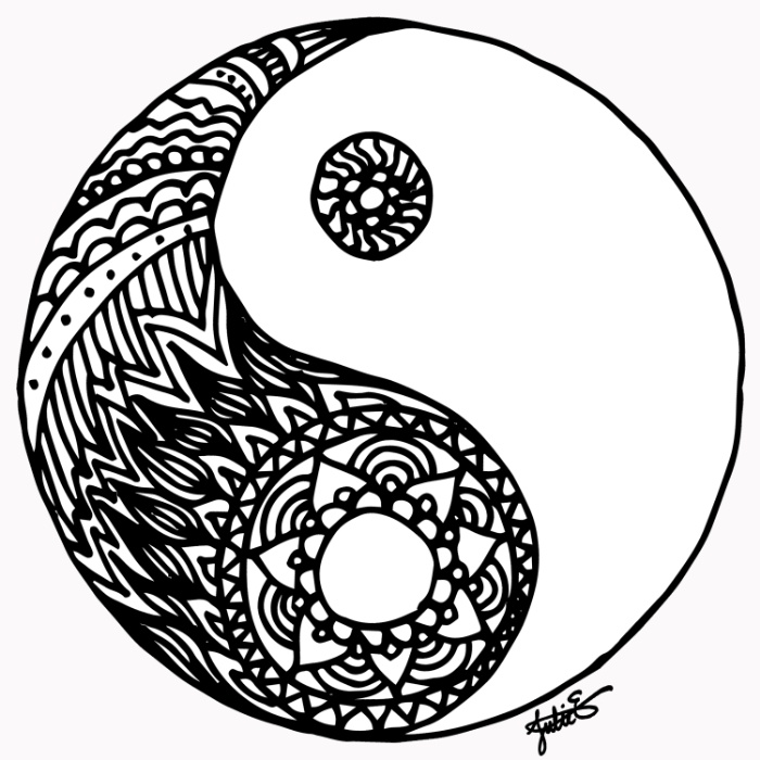 Yin Yang Coloring Pages Printable Yin Best Free Coloring Pages