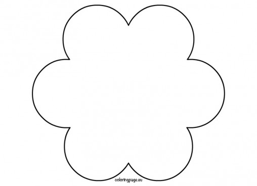 6 Petal Flower Outline - ClipArt Best
