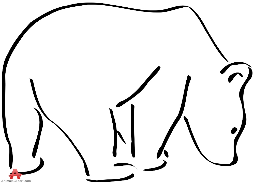 Outline Drawing Bear | Free Clipart Design Download