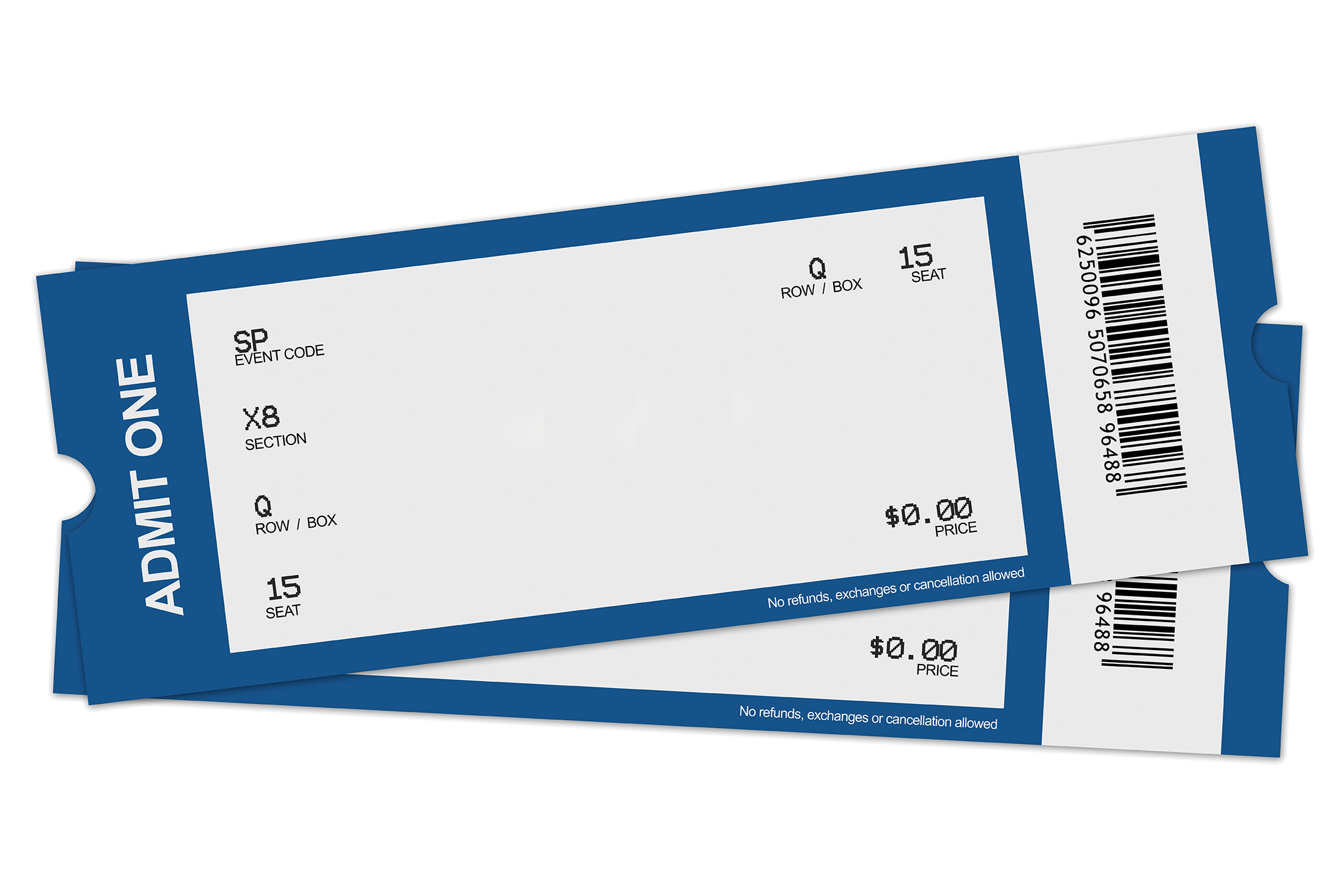 Blank Ticket Png - ClipArt Best