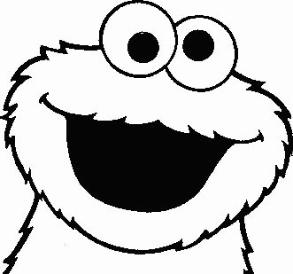 Cookie monster drawing clipart best for Cookie monster coloring pages printable