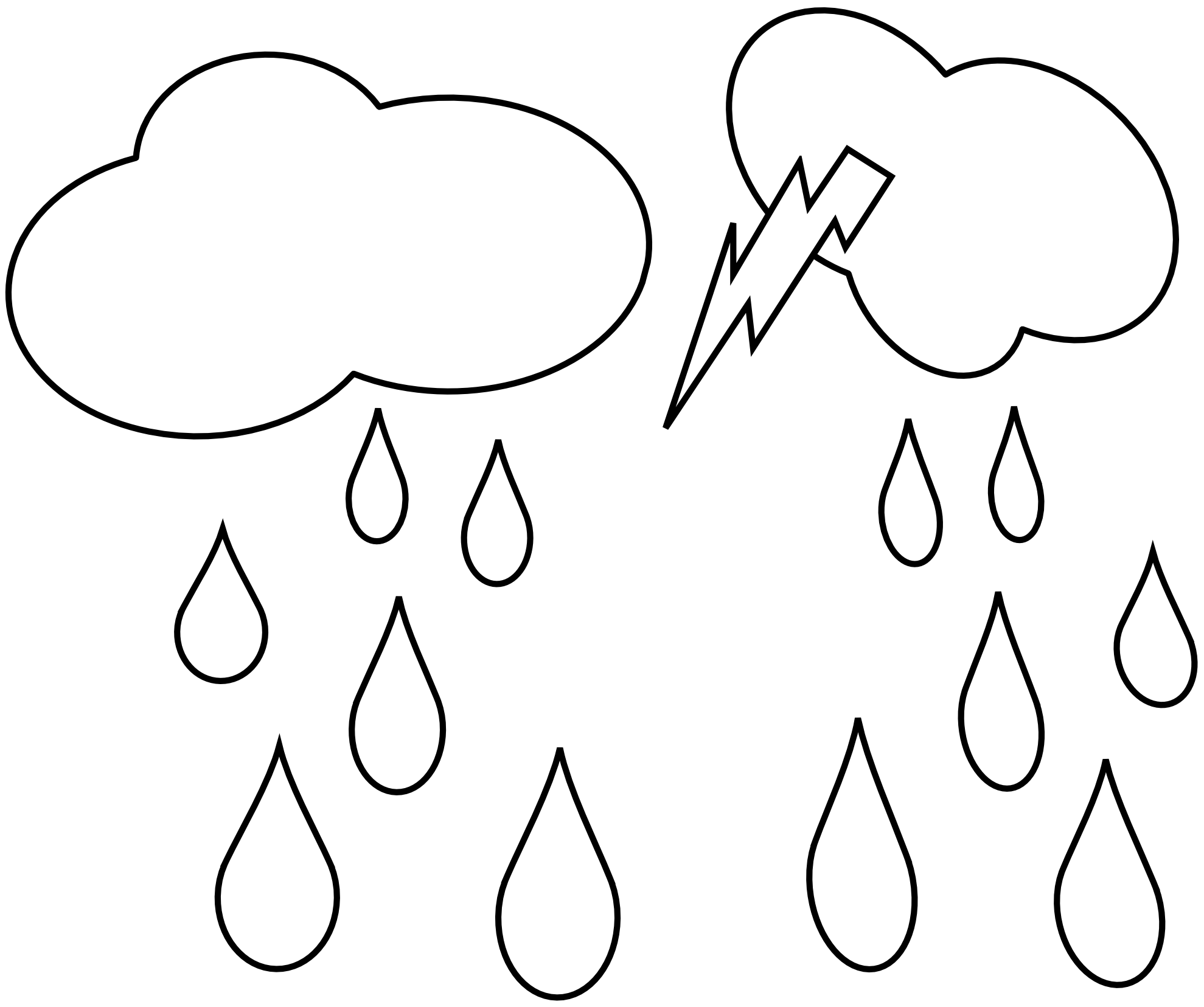 Rain Drops Clip Art Black And White - ClipArt Best