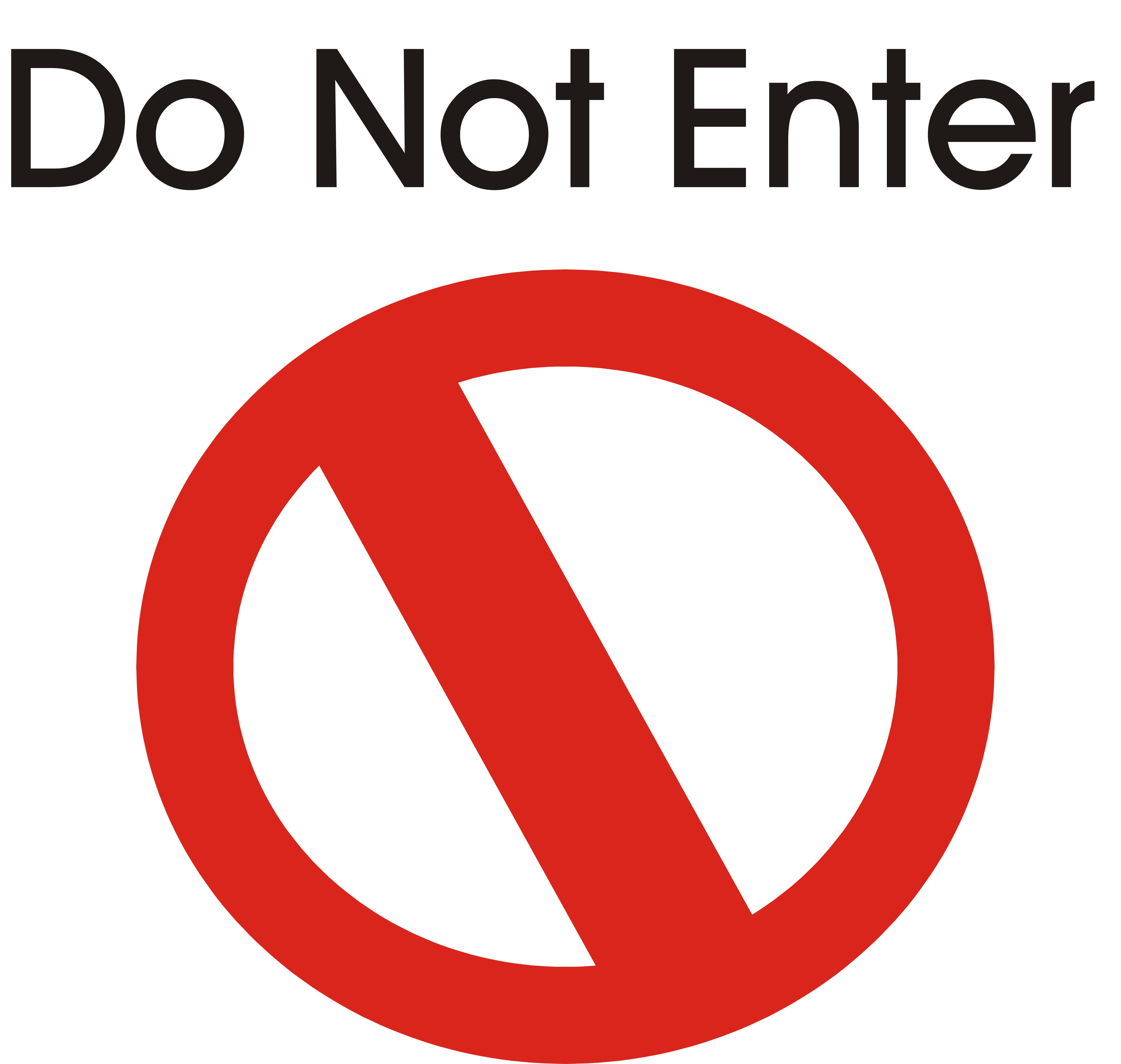 Do Not Enter - ClipArt Best