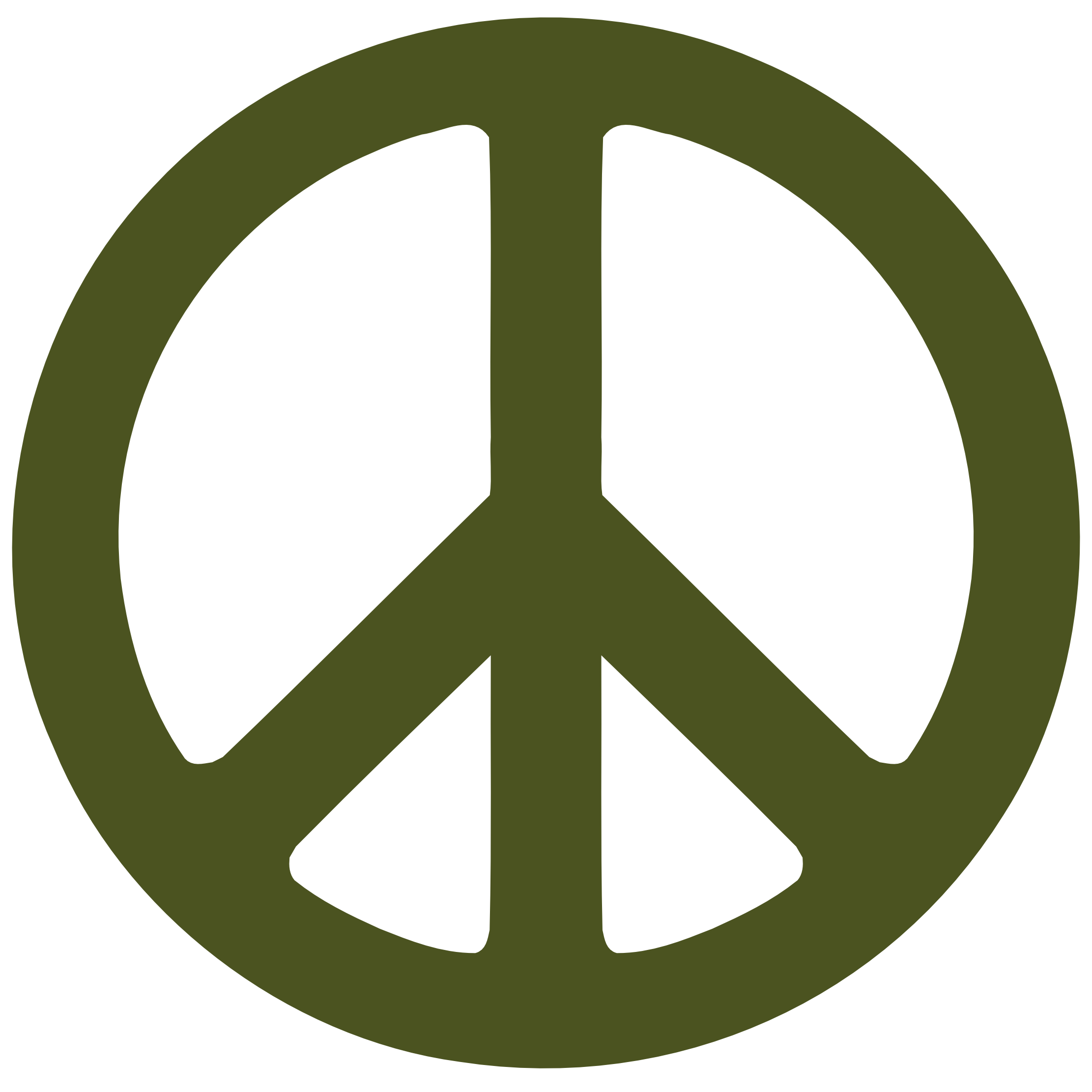 Army Star Symbol Army Green Peace Symbol 1