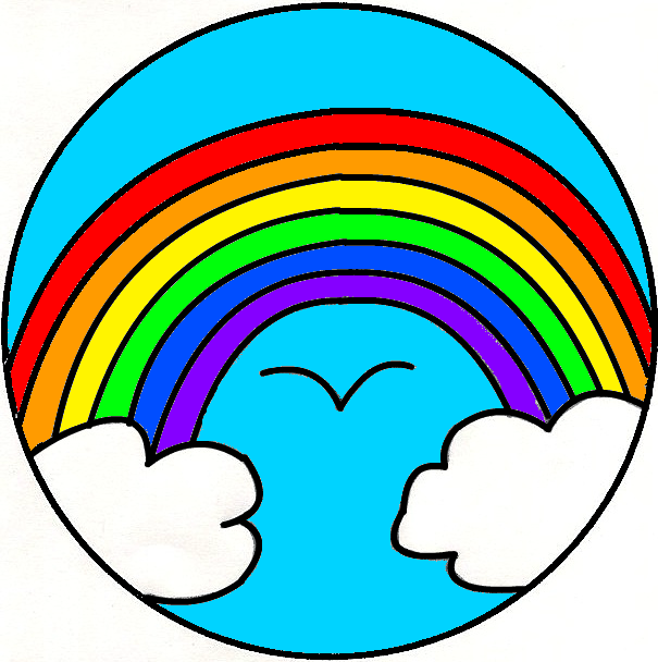 Rainbow Clipart Black And White - ClipArt Best
